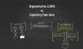 Argumentative Claims vs. Expository Thesis Statements
