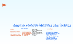 Industrial revoution Inventors and Factorys