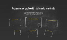 Programa de protección del medio ambiente