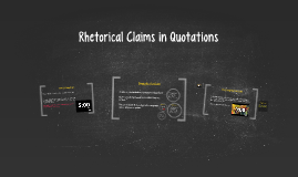 Rhetorical Claims in Quotations