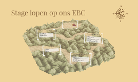 Stage lopen op ons EBC