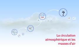 La circulation atmosphérique et les masses d'air