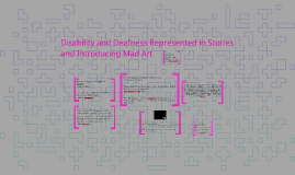 Disability and Deafness Represented in Stories and Introduci
