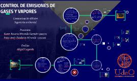 CONTROL DE EMISIONES DE GASES Y VAPORES
