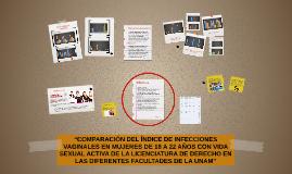 """""""COMPARACIÓN DEL ÍNDICE DE INFECCIONES VAGINALES EN MUJERES"""