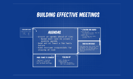 Building Effective Meetings
