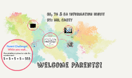 Copy of Welcome Parents!