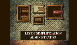 LEY DE SIMPLIFICACION ADMINISTRATIVA