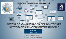 SISTEMA DE ADMINISTRACIÓN DE PROYECTOS DE INVESTIGACIÓN, INN