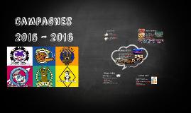Campagnes 2015 - 2016