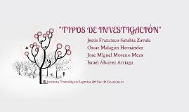 """TIPOS DE INVESTIGACIÓN"""