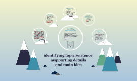 identifying topic sentences, supporting details