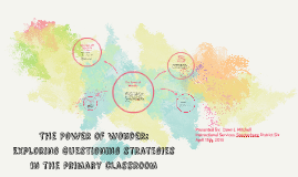 The Power of Wonder:  Exploring Questioning Strategies in the Primary Classroom