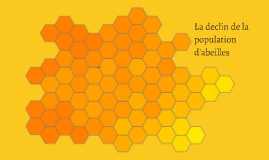 La declin de la population d'abeilles