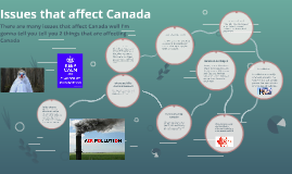 Issues that affect Canada