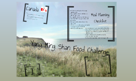 Yang Ming Shan Food Challenge