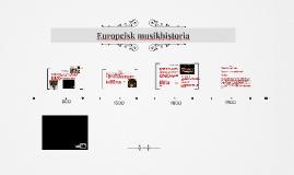 Europeisk musikhistoria