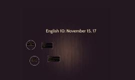 English 10: November