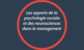 Les apports de la psychologie sociale et des neurosciences d