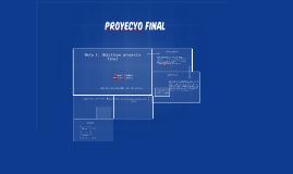Meta 1: Objetivos proyecto final