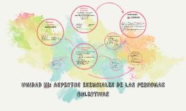 UNIDAD iii: ASPECTOS ESENCIALES DE LAS PERSONAS COLECTIVAS