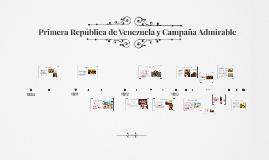 Primera República de Venezuela y Campaña Admirable