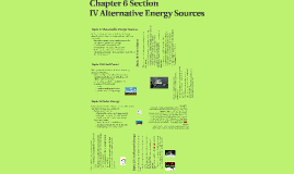 6 Section IV Alternative Energy Sources