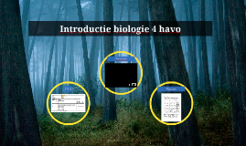 Introductie biologie 4 vwo