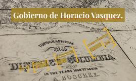 Gobierno de Horacio Vasquez.