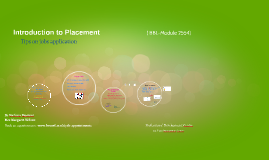 Copy of Introduction to Placement & Tips- Sport Sciences