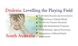 Dyslexia SA 6 point plan