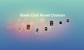 Book Club Novel Choices
