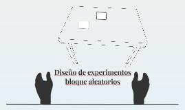 Diseño de experimentos bloque aleatorios