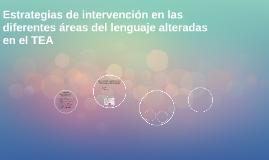Estrategias de intervención en las diferentes áreas del leng