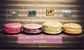 SYLLABUS FOR THE 11TH GRADE