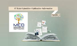El Texto Expositivo-Explicativo-Informativo