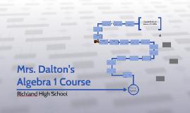 Mrs. Dalton's Algebra 1