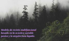 Diseño de cámara multifuncional con Acústica Variable basada