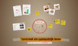 Copy of Concreet en contextrijk leren