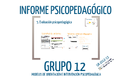 Copy of Informe psicopedagógico