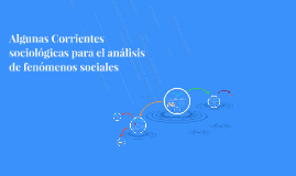 Algunas Corrientes sociológicas para el analisis de fenomeno