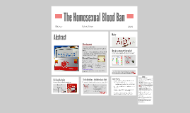 Homosexual Blood Ban