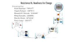 Resistance Vs. Readiness For Change