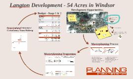 Langton Development - Masterplanning Process