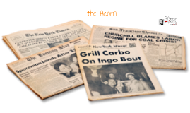Copy of newspaper