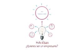 ¿Quieres ser un empresario?