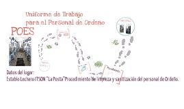 Copy of Uniforme de Trabajo para el Personal de Ordeño