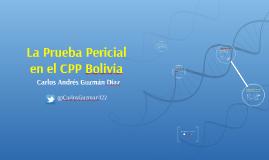 Prueba pericial en Bolivia