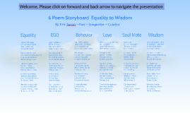 6 Poem Storyboard Equality to Wisdom