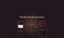 Copy of Tehnike pretraživanja nizova